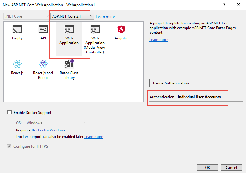 How to publish ASP NET Core web application via Visual
