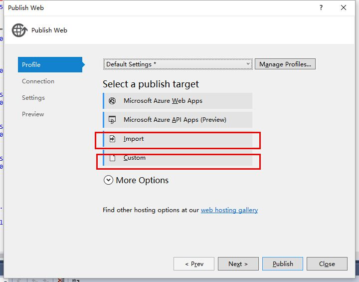 How to use Web deploy feature via Visual Studio 2015